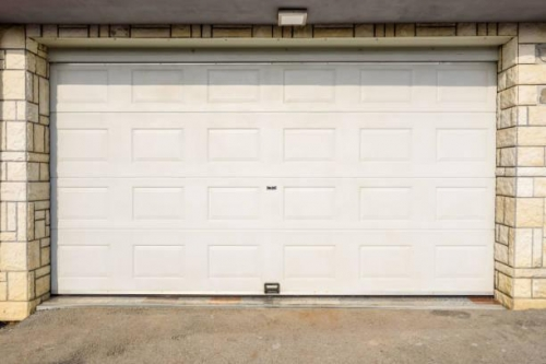 white garage door pvc